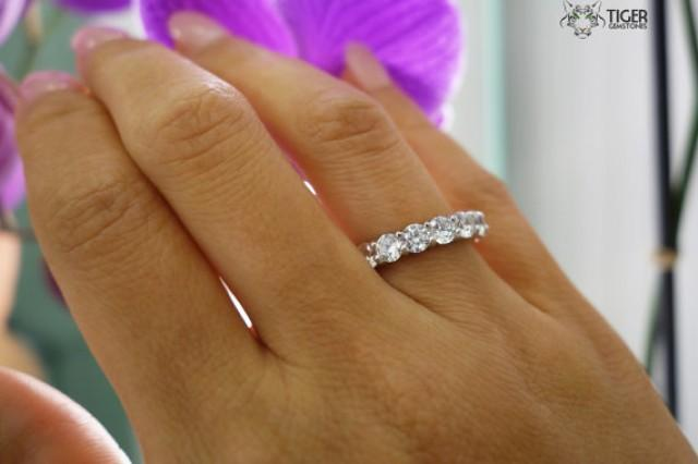4 25 Carat Eternity Band Round Wedding Band Engagement