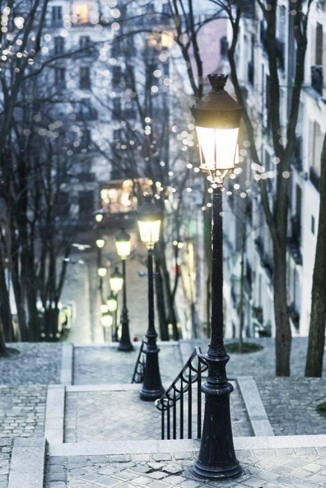 Paris photograph paris at night street lamps for Home decor 86th street