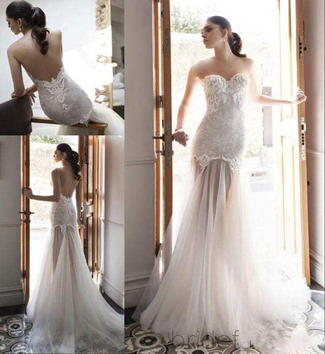 Vintage 2015 lace wedding dresses mermaid sweetheart tulle for Vintage wedding dresses online shop