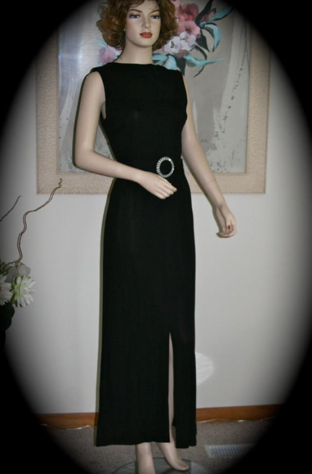 Wicked gorgeous black dress vintage 1960s rhinestone for How to dress up a black dress for a wedding