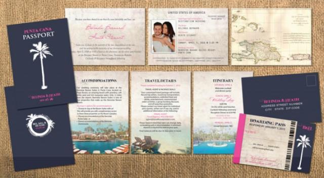 Destination Wedding Invitations Passport: Destination Passport Wedding Invitations // Traditional