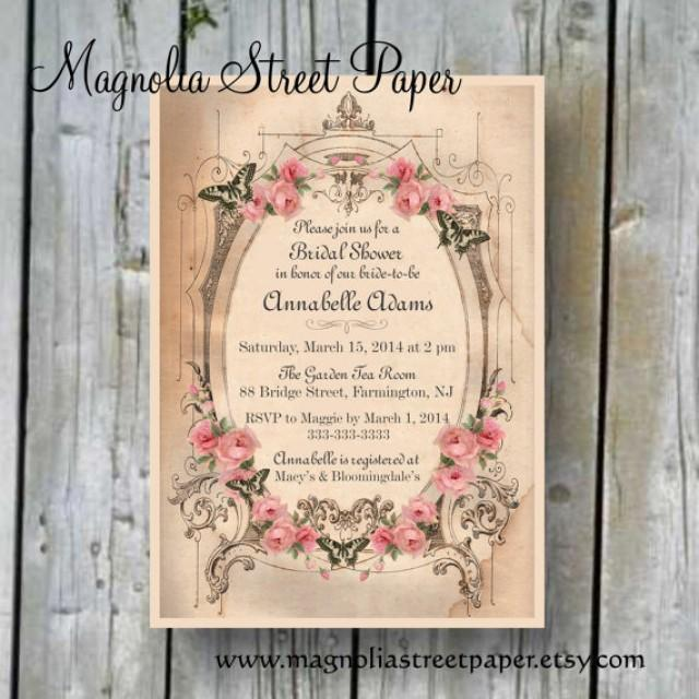 Printable bridal shower invitation custom printable for Custom wedding shower invitations