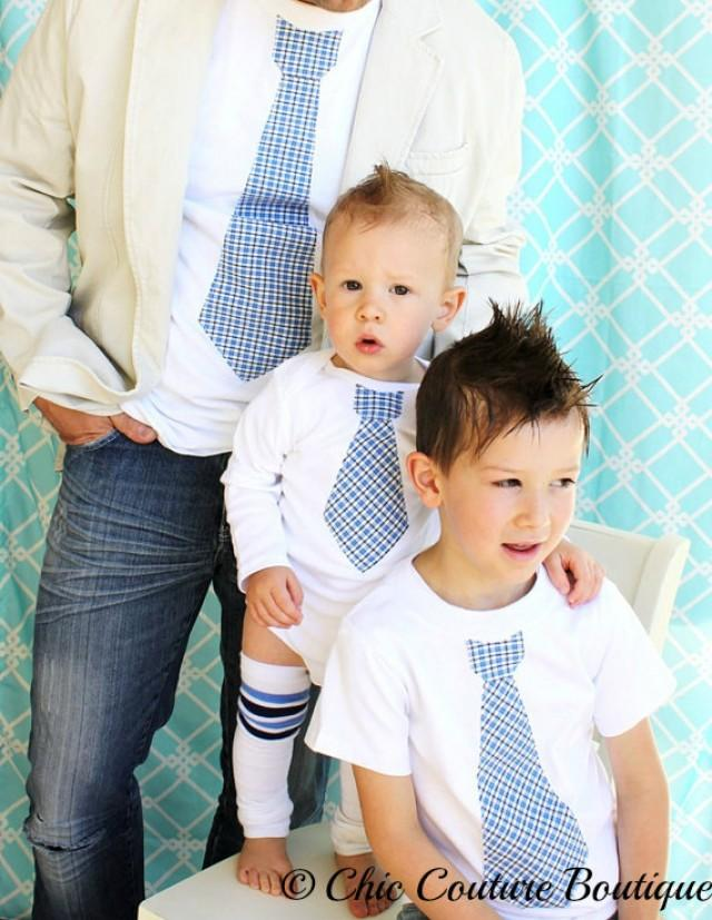 Gift Set Tie Shirts For Daddy Son