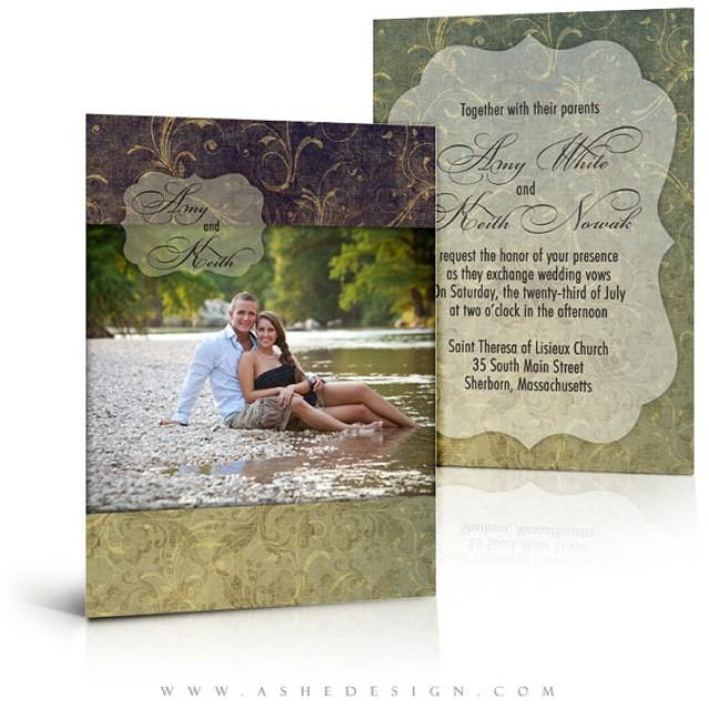 Wedding Invitation Card Templates Forever After 5x7 Flat