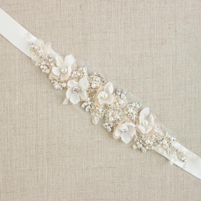 Reserved Wedding Belt Bridal Dress Belts Sashes Fl Sash Flower Lace Champagne 2301110