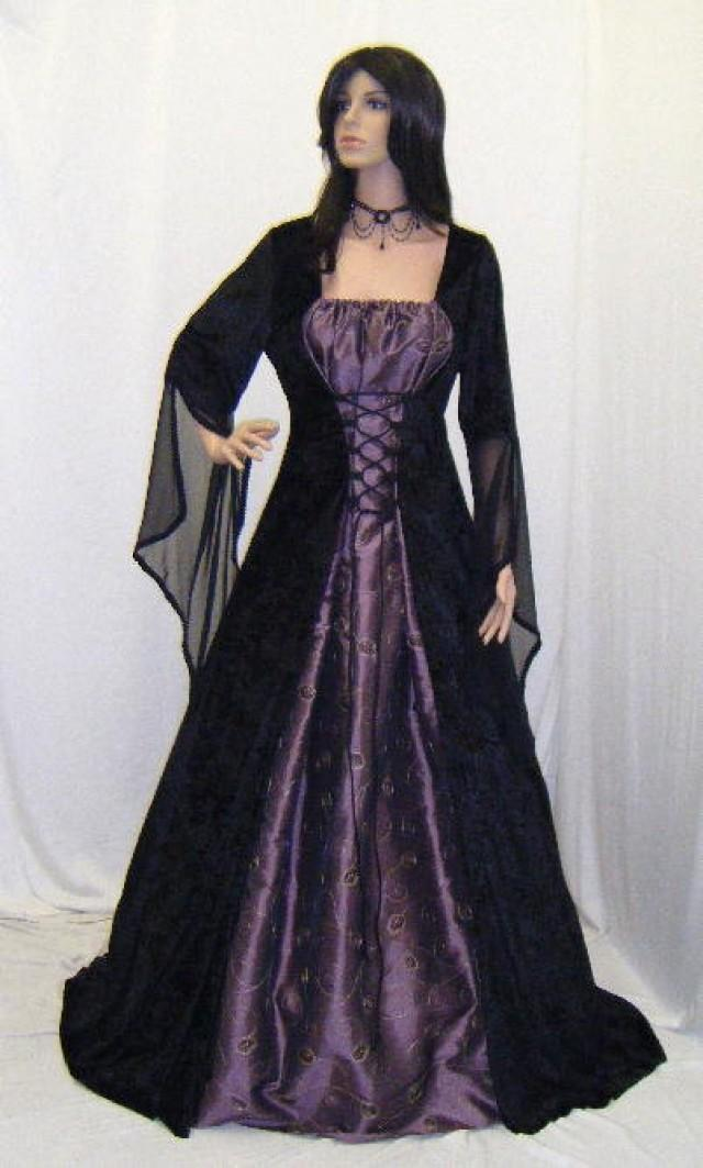 Medieval Renaissance Elven Dress Gothic Wedding Dress