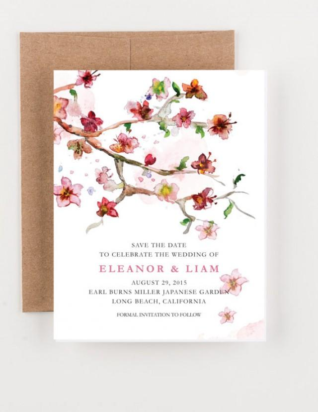Japanese Floral Garden Save The Date, Bridal Shower, Wedding ...