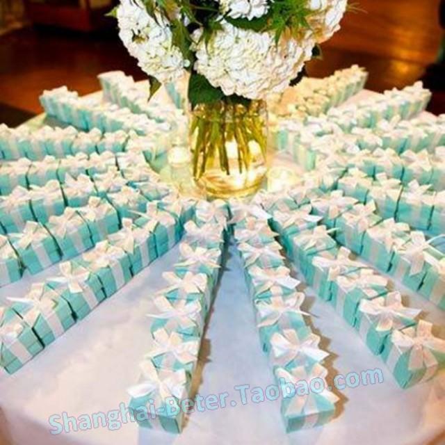 Tiffany Blue Wedding Decorations: Tiffany Blue Wedding Favor Box (DIY) TH040 Bride And Groom