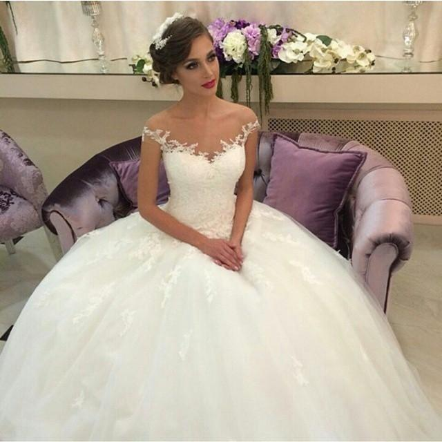 Vintage Ball Gown Wedding Dresses 2015 Off The Shoulder