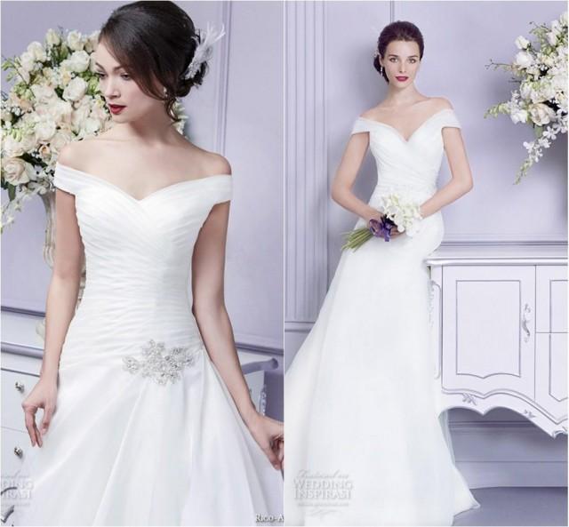 Off The Shoulder 2015 Wedding Dresses Rico Parisian Blush