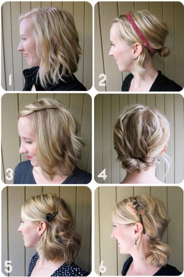 One Week Of Great Hair Simple Hairstyles For Medium Length 2304689 Weddbook