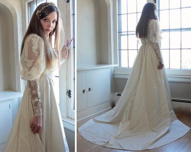 70s Vintage Victorian WEDDING DRESS Romantic Woman's