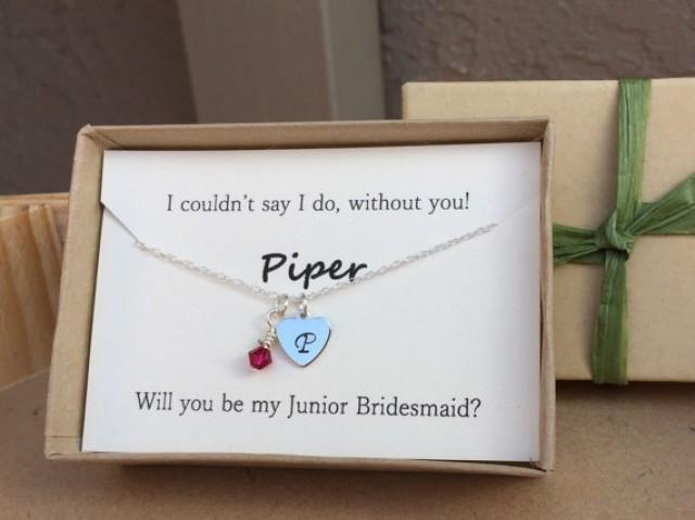 Will You Be My Junior Bridesmaid Maid Of Honor Birthstone