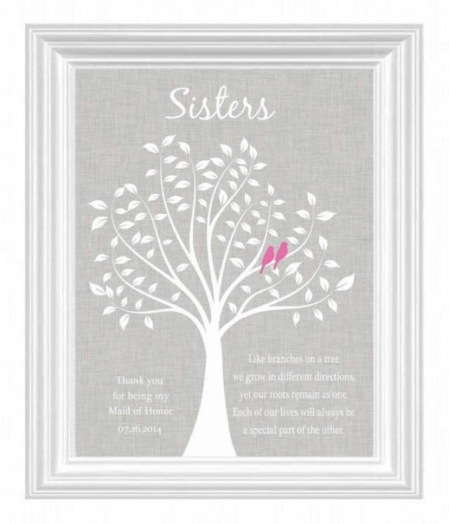 Wedding Gifts For Sisters: Maid Of Honor Gift -Wedding