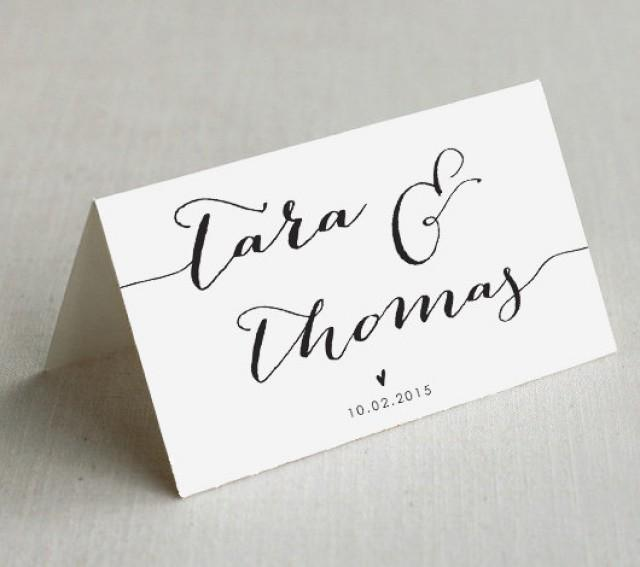 Printable wedding place cards custom wedding name cards for Make your own wedding place cards