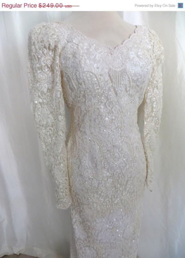 Wedding dress long train bridal gown fully beaded for Fully beaded wedding dresses