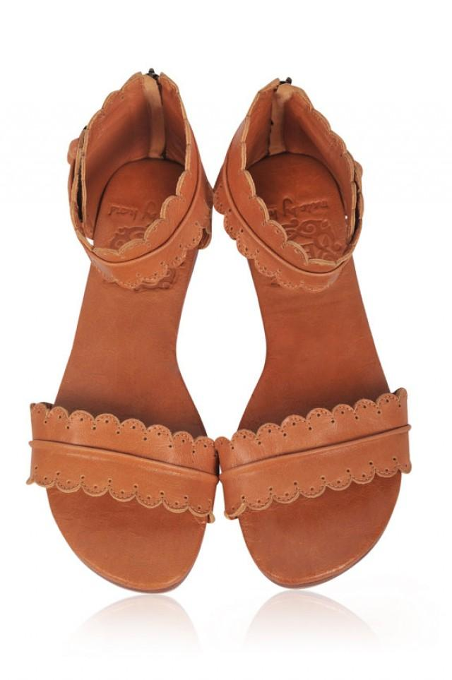 Midsummer Leather Sandals Women Shoes Leather Shoes