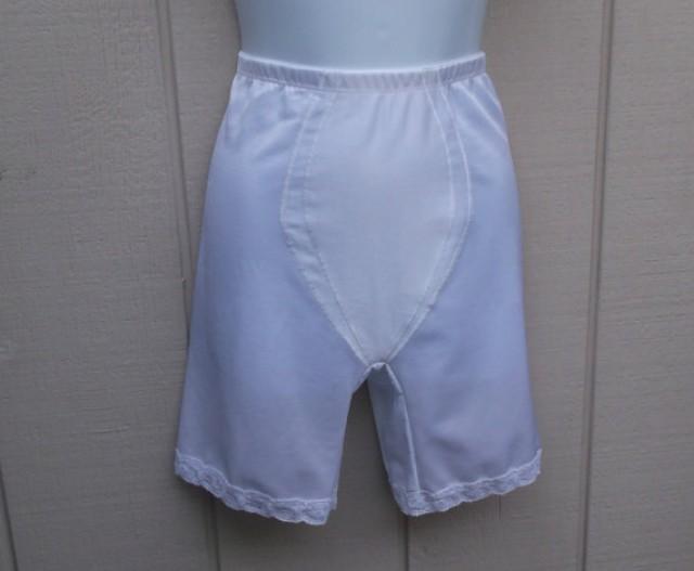 Vintage Illusions White High Waisted Panty Girdle Foundation Garment Size Large  Weddbook