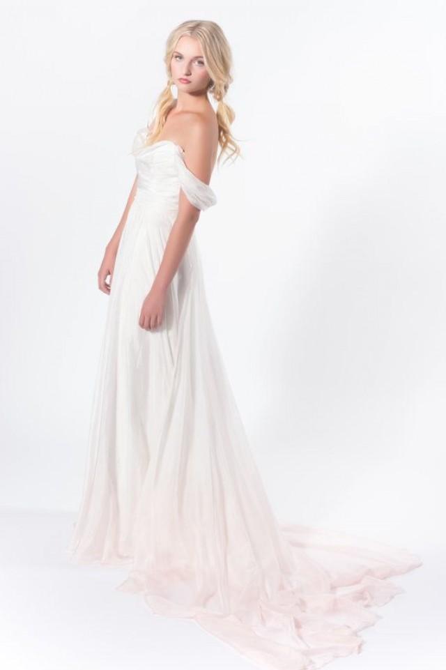 Before Sunset Ivory Silk Dip Dye Wedding Dress Blush Dip Dye Alternative Wedding Gown With Train 2309227 Weddbook,Mother Of The Groom Beach Wedding Dresses