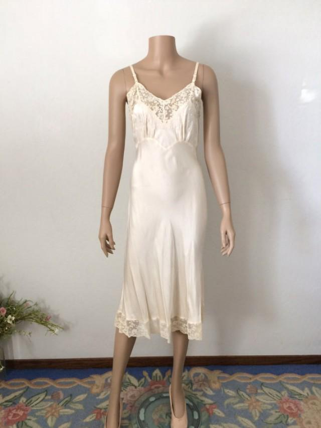 Vintage 1930 39 s fischer bias cut silk slip wedding for Lingerie for wedding dress