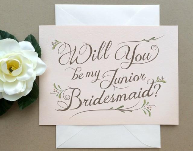 Will You Be My Junior Bridesmaid Bohemian Chic Romantic Wedding Party Card Junior Bridesmaid Card Card