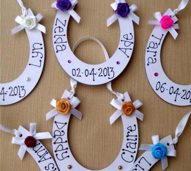 Personalised Horse Shoe - A Great Wedding Gift To Give To The Bride ...