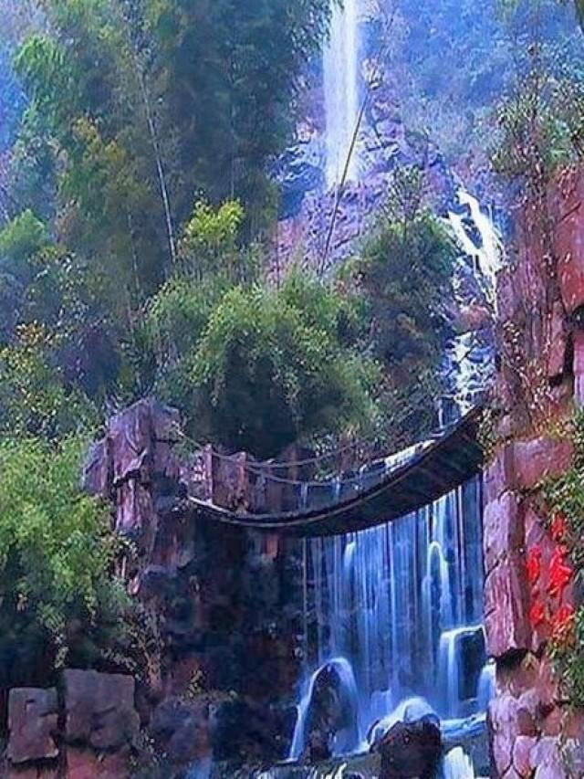places visit waterfalls bridge most die before amazing around travel china waterfall zhangjiajie bridges suspension baofeng lake vacation hawaii wonderful