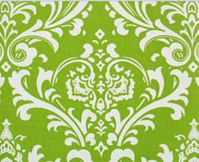 Chartreuse Green Damask Chair Sash Napkin Set Fabric Linens Lime ...