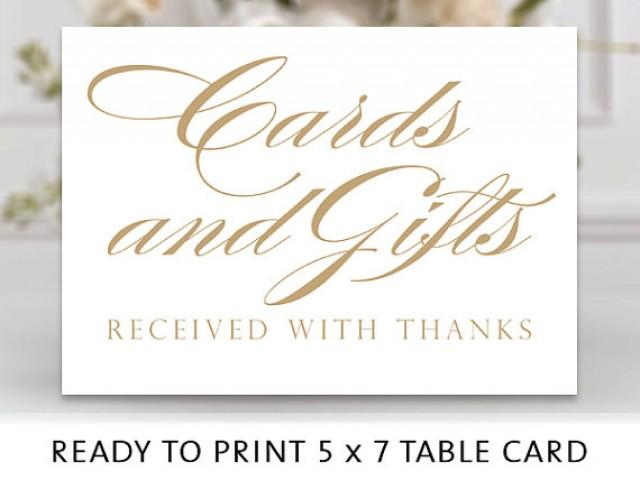 Cards And Gifts Sign 5x7