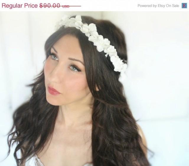 SALE Flower Girl Crown Boho Wedding Ivory Crown Bridal Headpiece Floral Headband Wedding Headpiece Bridal Hair Piece Bridal Accessories