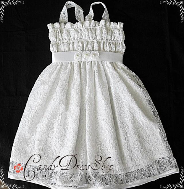d6a894051 White Lace Flower Girl Dress - White Lace Dress - Party Dress For ...
