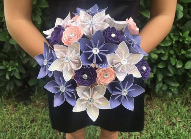 NEW ITEM Shabby Chic Paper Flower Bouquet Kusudama Origami Arrangement Wedding Bridal Bouquets 2317255