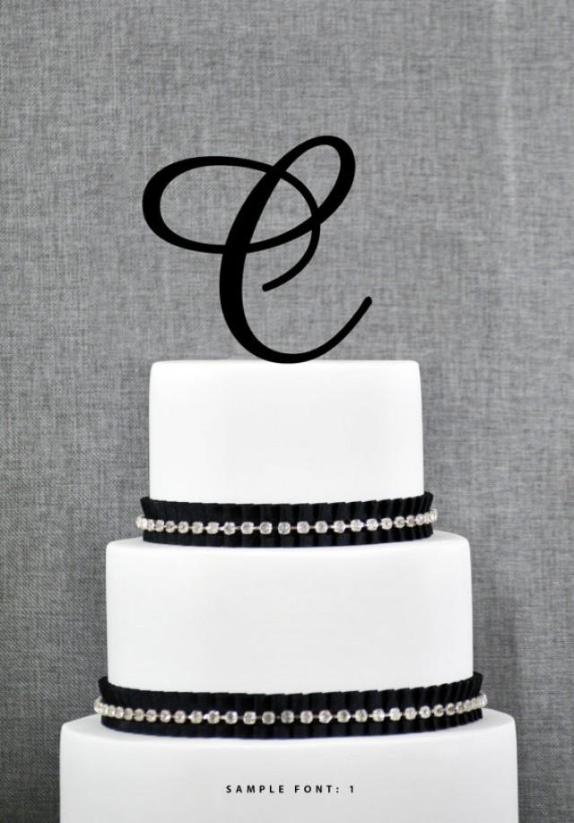 Diy Initial Wedding Cake Toppers