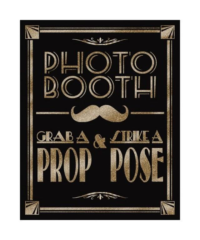 Printable Photo Booth Art Deco Great Gatsby 1920 S