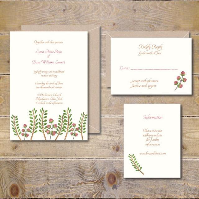watercolor wedding invitations woodland wedding invitations outdoor wedding watercolor invitations ferns roses garden wedding ferns 2317883 - Outdoor Wedding Invitations