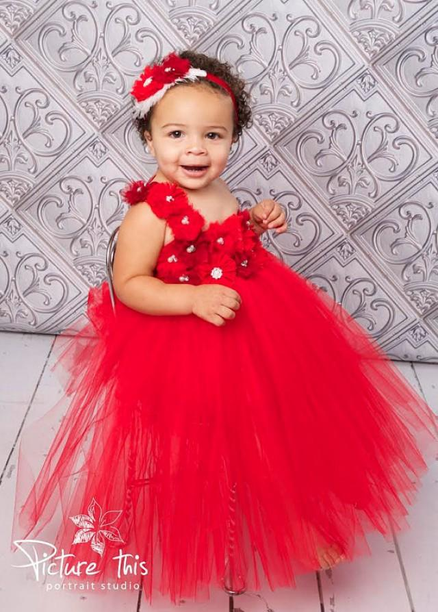 Valentine Tutu Dress Valentines Day Red Flower Marsala Mini Bridesmaid 2320624 Weddbook
