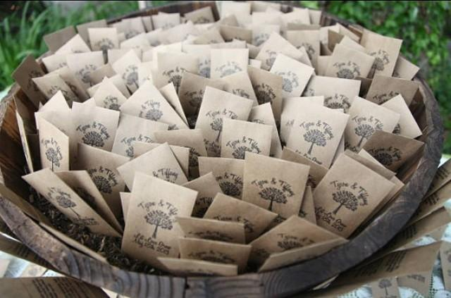 100 Customized Eco Friendly Let Love Grow Wedding Seed Favor Envelopes 2320691