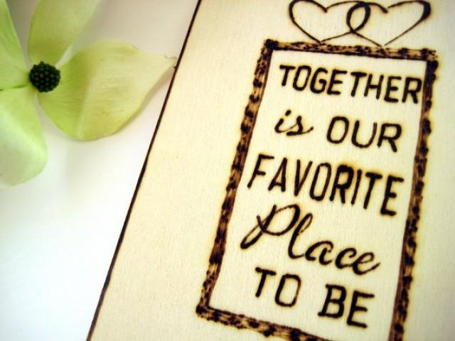 TOGETHER Wedding Cake Topper, Love Quote, Initials Cake Topper ...