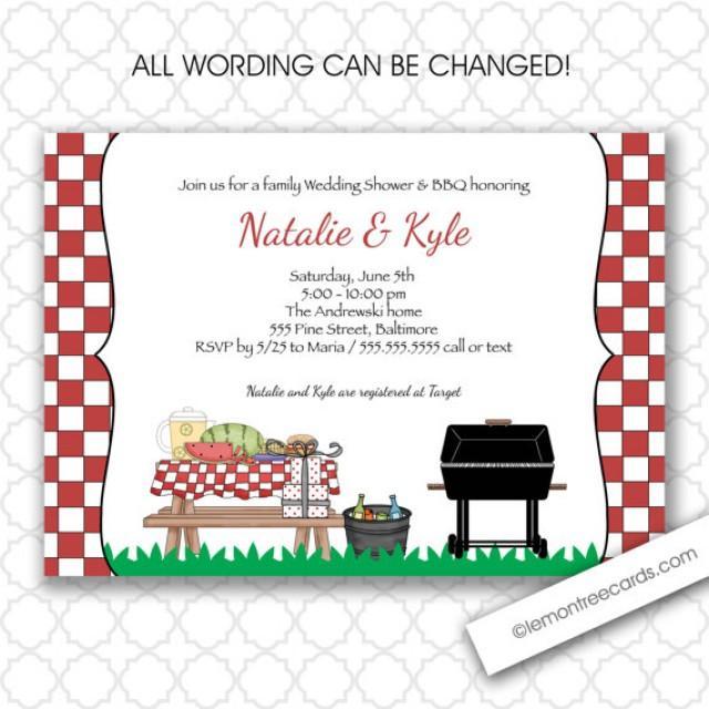 BBQ Wedding Or Bridal Shower Invitation Couples Shower