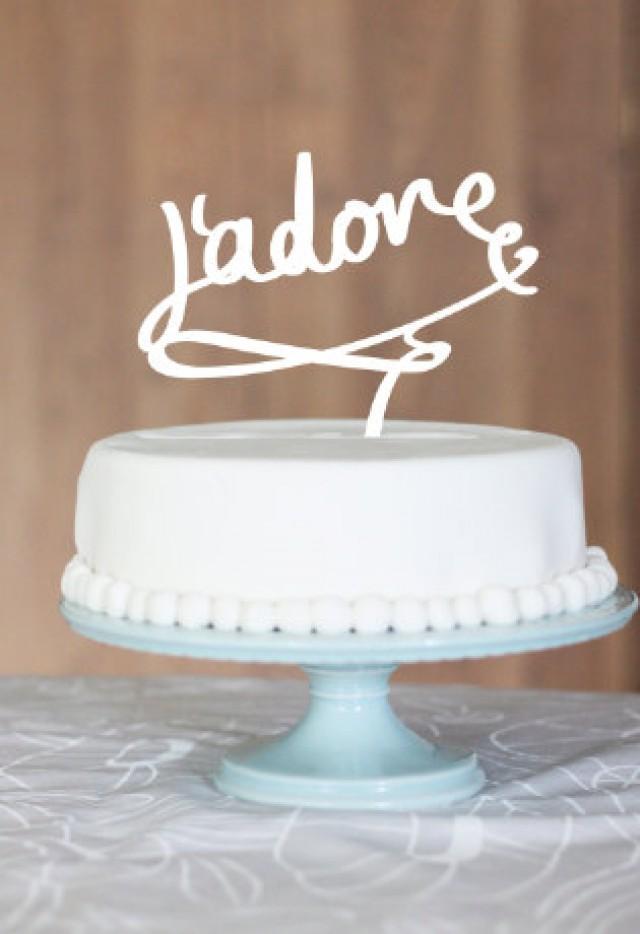 Wedding Cake Topper Jadore Love Monogram Cake Topper Custom