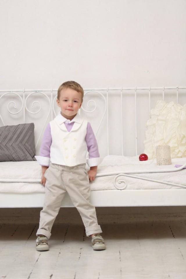 Ring Bearer Outfit Wedding Party Outfit Toddler Boy Vest And Pants ...
