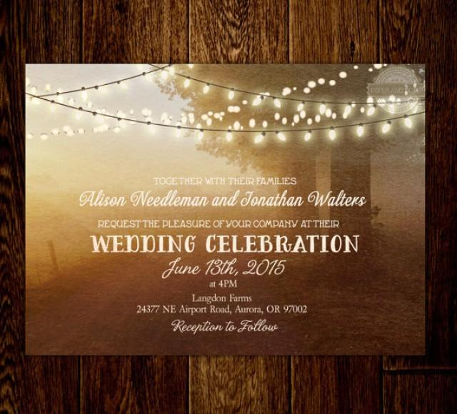 rustic fairy lights string lights countryside wedding