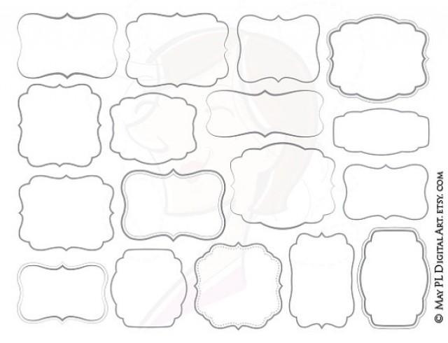 Commercial Use Digital Frames Frame Clip Art Gray Grey Borders DIY ...