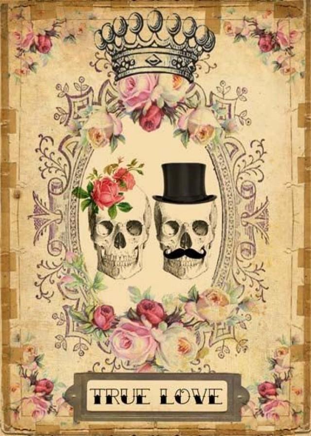 INSTANT Digital DOWNLOAD - DIY Printable Gothic Victorian Skull ...