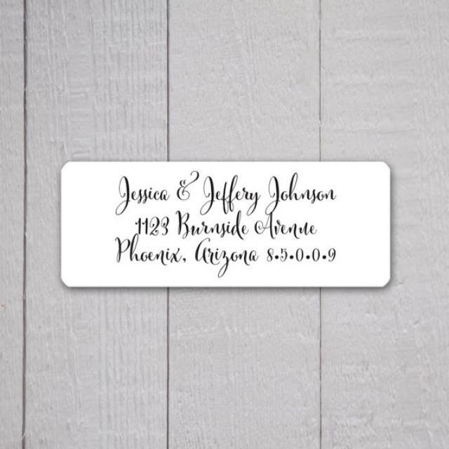 wedding invitation return address labels wedding stickers return