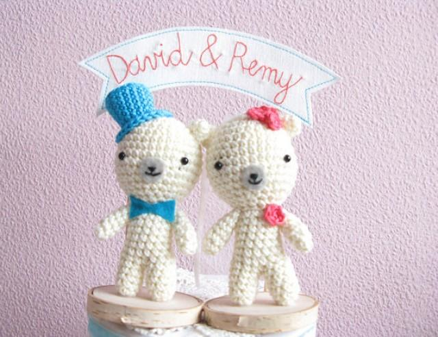 Teddy Bear Cake Topper Wedding Decor Name Bride And Groom 2326904