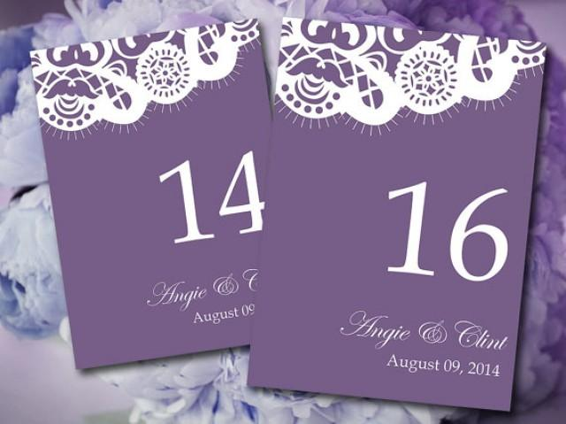 Vintage Lace Wedding Table Number Microsoft Word Template