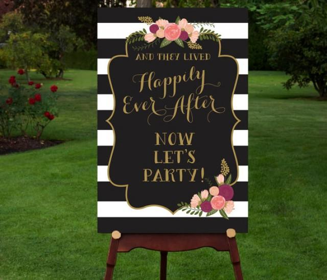 Funny Wedding Entrance Ideas: PRINTABLE Reception Sign // Reception Entrance // Let's
