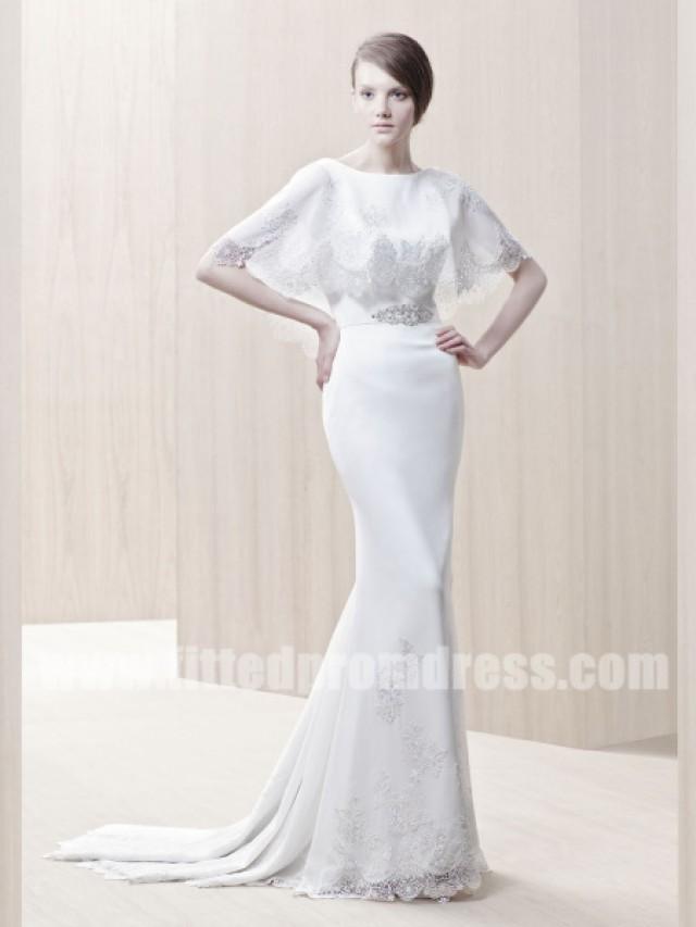 Enzoani Ginger Chiffon V Shaped Wedding Gowns #2327201 - Weddbook