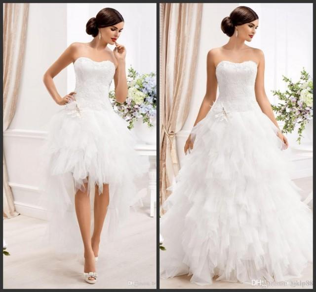 2015 sweetheart ball gown wedding dresses with detachable